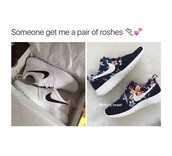 shoes,nike,nike shoes,white,white shoes,black white roshes,nike floral rosche,nike running shoes,nike roshe run,nike free run,nike air force 1,nike sportswear,nike roshes floral,nike shoes womens roshe runs,nike air max 90