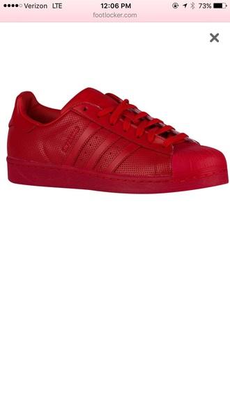 shoes red adidas adidas shoes adidas superstars adidas originals shell toe mens shoes adidas 3 stripes