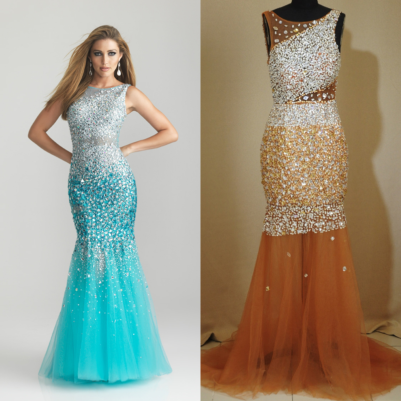Aliexpress.com : Buy Gorgeous Slim Multi Beaded Prom Dresses 2013 Long Scalloped Backless Sexy Celebrity Evening Dress from Reliable dress code dresses suppliers on 27 Dress