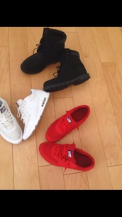 timberlans,black timberlands,air max,trainers,red nike air max 90,white air max trainers,sneakers