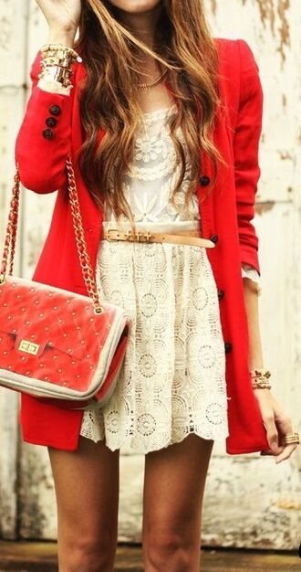 dress white cute belt cream dress lace lace dress short dress
