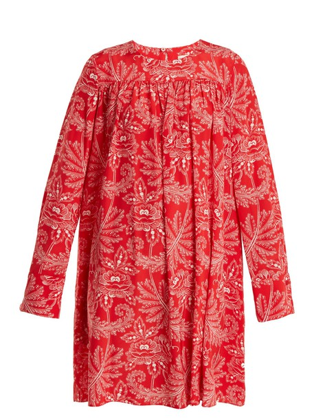 Diane Von Furstenberg dress floral print silk pink
