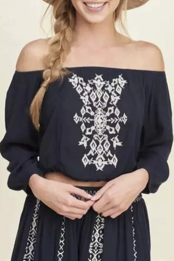top fashion style trendy summer spring boho off the shoulder long sleeves festival cool beautifulhalo