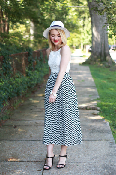 skirt maxi skirt poor little it girl blogger jewels chevron