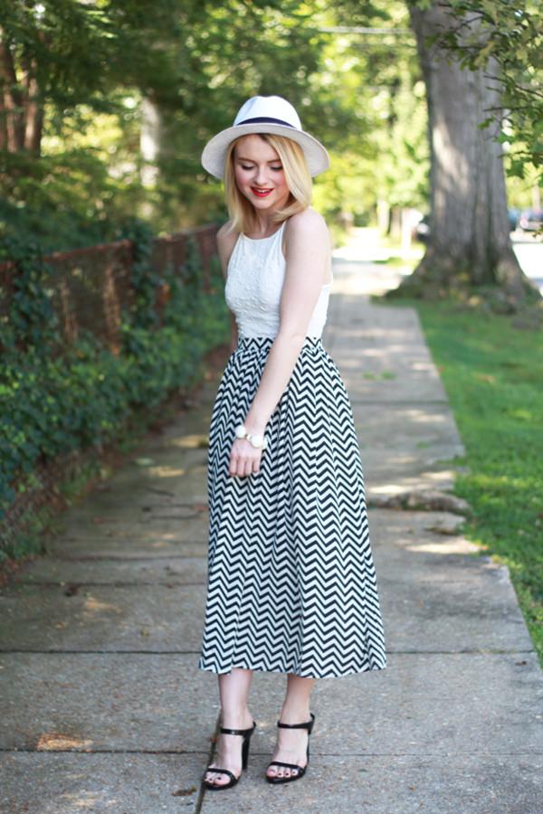 poor little it girl blogger skirt jewels chevron maxi skirt