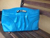 bag,blue clutch,mod style,blue handbag,60s style,60s 70s 80s,vintage 60s inspired,60s handbag