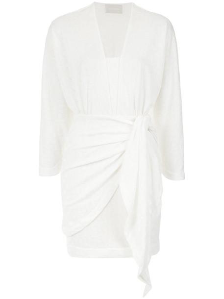 Lilly Sarti dress short women spandex white