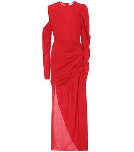 Magda Butrym Sevilla silk dress in red
