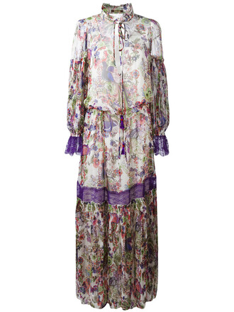 dress print dress women floral print silk