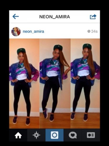 t-shirt amira mccarty shoes