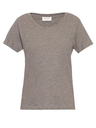 t-shirt shirt cotton light grey top