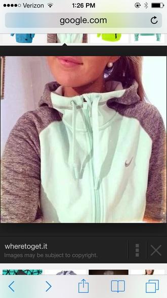 jacket mint hoodie