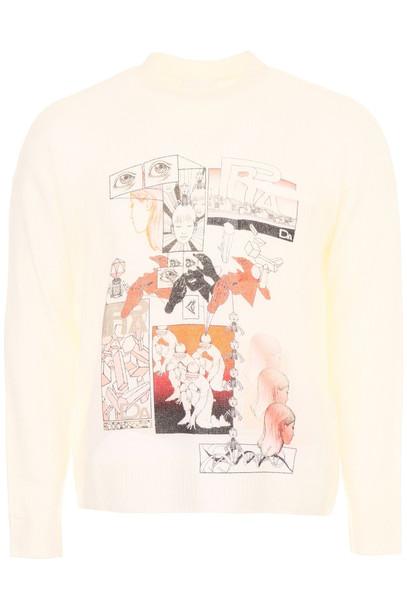 Prada Printed Cashmere Pullover