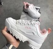 shoes,fila,sneakers,fila sneakers,platform shoes