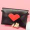 Heart envelope clutch bag