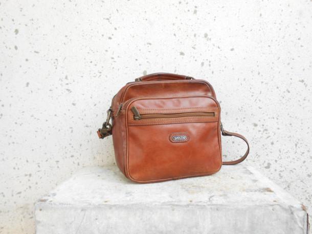 a986114103 bag satchi leather bag brown leather bag crossbody leather bag vintage leather  bag vintage bag shoulder