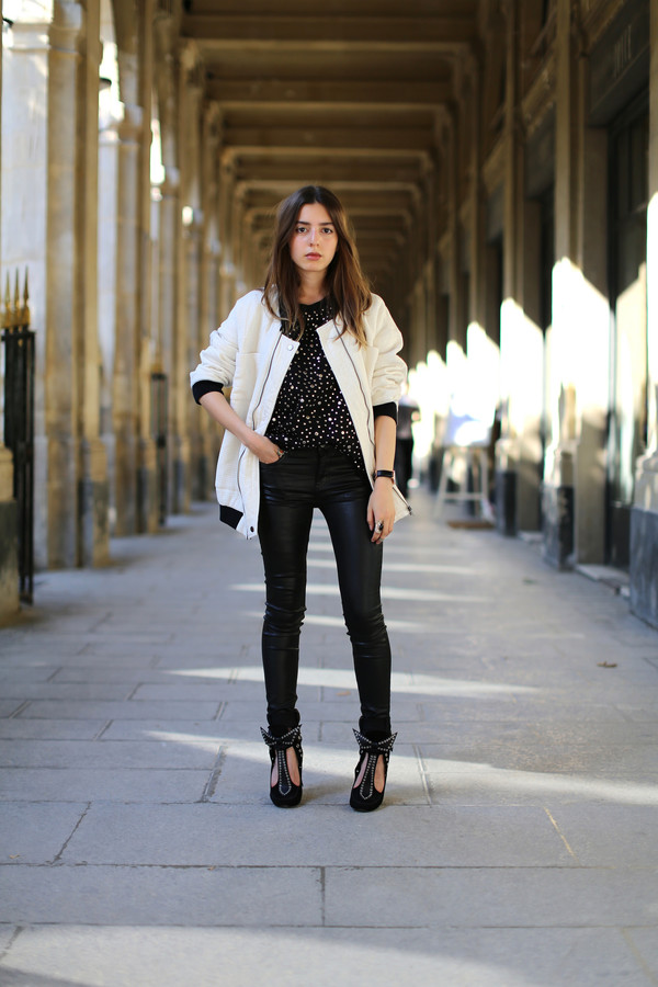 sarah co mode ton look jacket top jeans shoes jewels