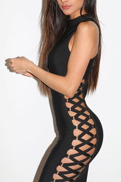Side Cage Bodycon Dress