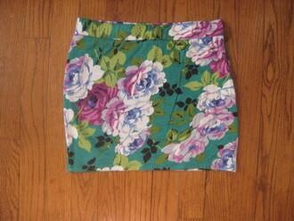 skirt floral skirt bodycon skirt green green skirts skirts skirts. floral flowers mini skirt