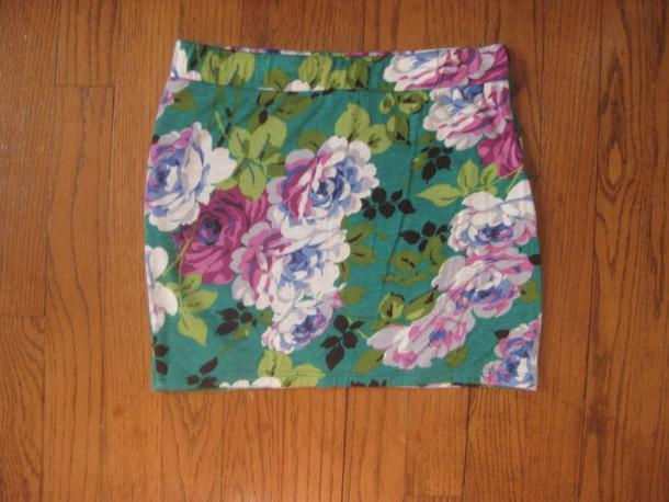 skirt floral skirt bodycon skirt green green skirt skirt skirt floral flowers mini skirt