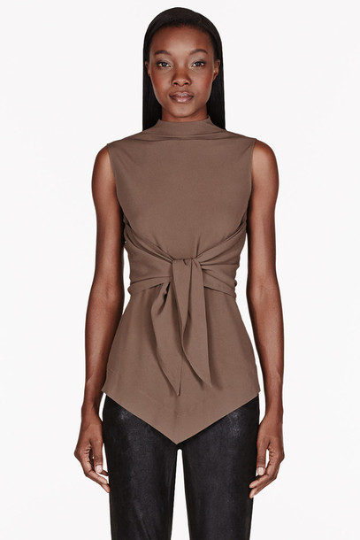 Simple Buy Oxolloxo Brown Solid Blouse For Women Online India Best Prices Reviews | OX344WA42NOFINDFAS