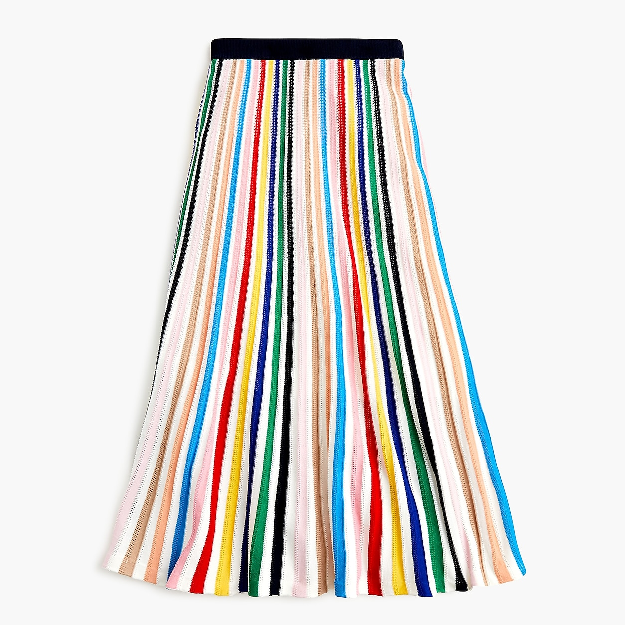 Pull-On Flare Skirt In Rainbow Stripe