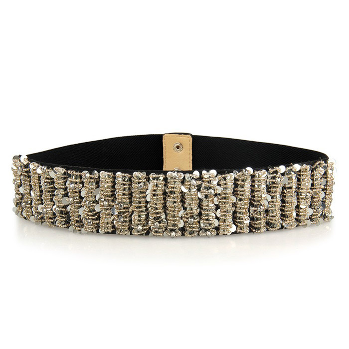 2013 New fashion sequins women's/ladies high quality beads belt obi fashion belt wholesale free shipping13 002-in Belts & Cummerbunds from Apparel & Accessories on Aliexpress.com