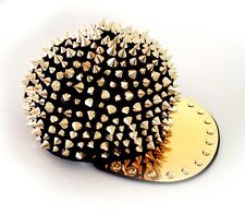 Studded Punk Spike Gangsta Gangster Fashion Snapback CAP Unisex Baseball Bling | eBay