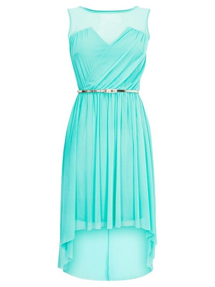aqua blue dress high-low dresses