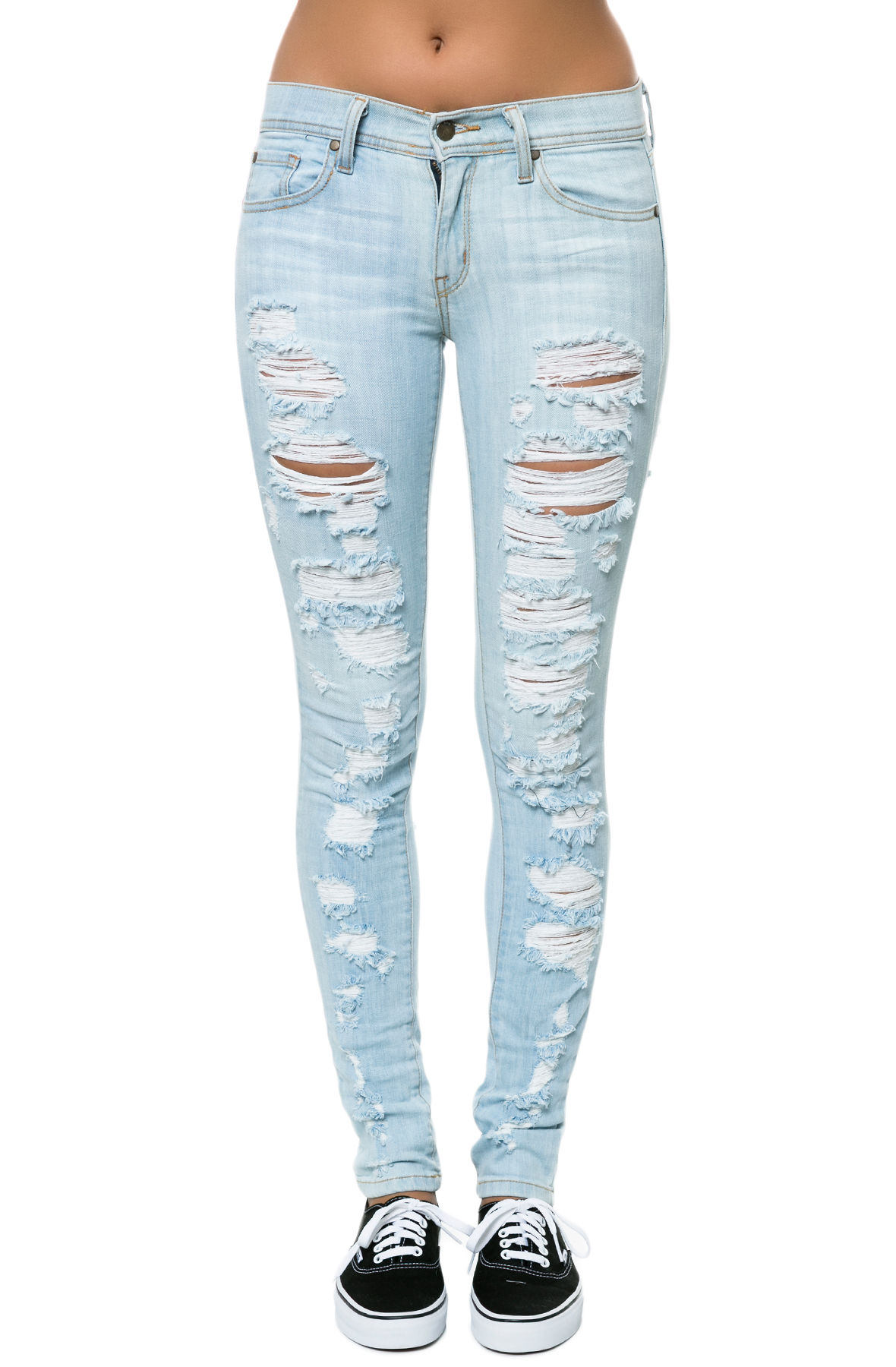 Pistola Denim Jeans Audrey Denim in Slasher Light Blue