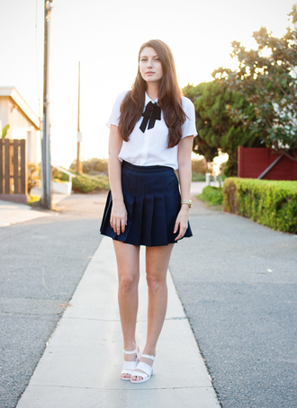 these days blogger blouse skirt shoes