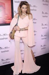pants,pastel,pastel pink,paris jackson,flare pants,tunic,blouse,top,slit pants