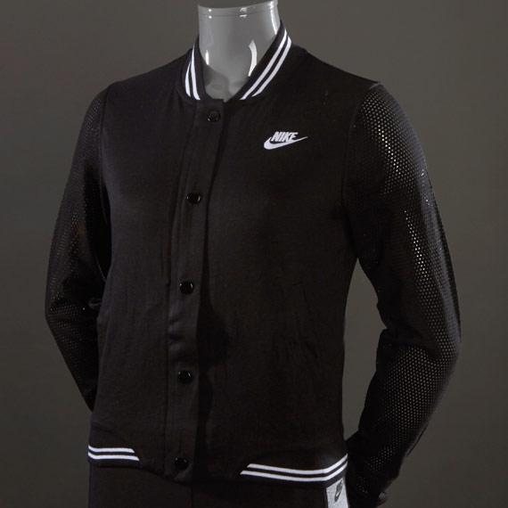 Black and white varsity jacket womens