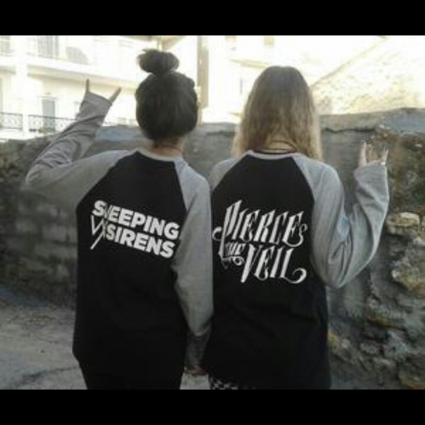 sweater pierce the veil sleeping with sirens hoodie crewneck sws ptv sleeping with sirens shirt band band fanstuff black white