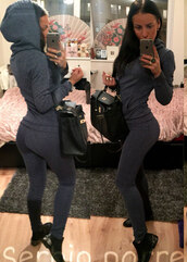 tracksuit,grey sweater,grey pants,sportswear,comfy,fall outfits,outfit,clothes,tumblr clothes,girly,instagram,tumblr,ootd,dailylook,skinny jeans,skinny pants,hermes,bag,autumn/winter,sweatshirt,cozy,knitted sweater,christmas,cable knit,soft,long sleeves,top,pants,emoji pajamas,pajamas