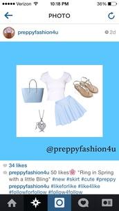 skirt,baby blue,preppy