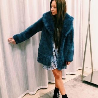 coat topshop winter coat fur