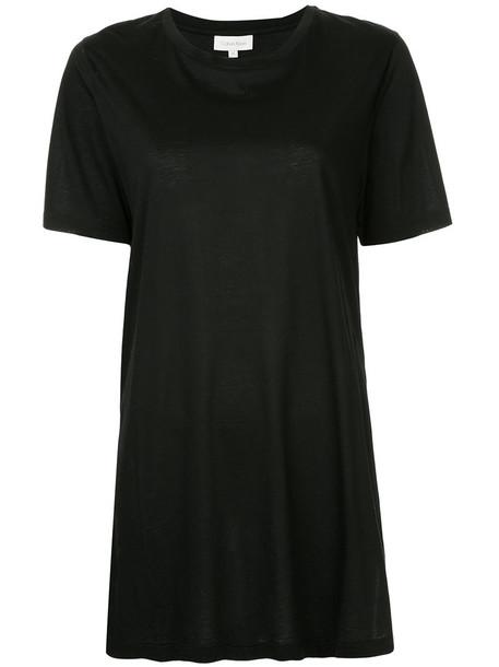 Ck Calvin Klein t-shirt shirt t-shirt women slit cotton black top