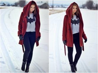 coat batman pants boots the whole outfit cute adorable outfit