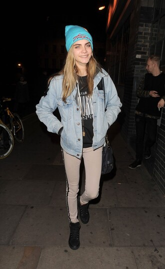jacket denim jeans levi's denim jacket vintage faded cara delevingne pants hat shirt