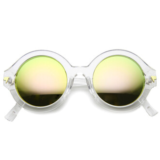sunglasses round round sunglasses mirrored sunglasses