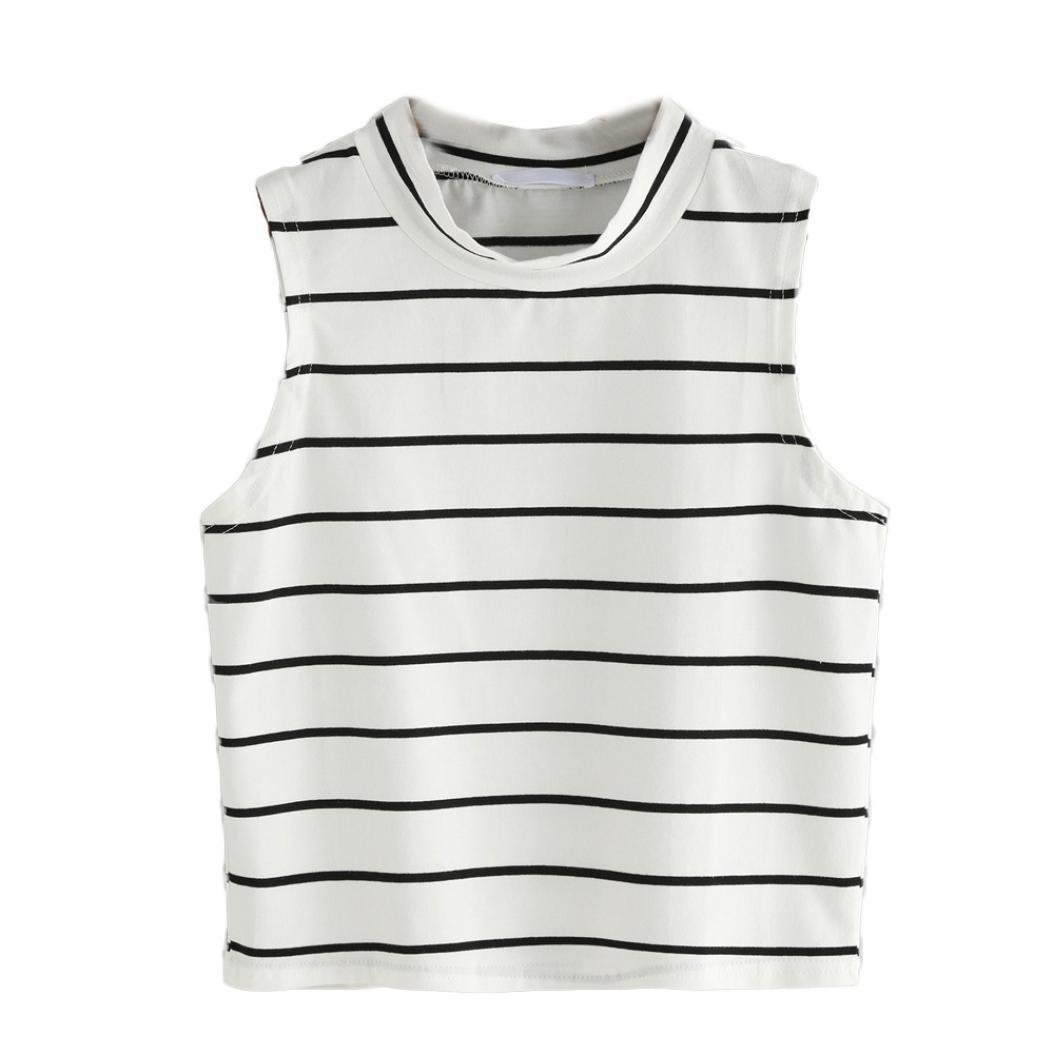 Black t shirt amazon - Amazon Com Women S Tee Neartime Cute Striped Tank Top Sleeveless T Shirt Tops Black White L