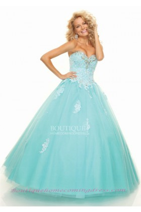 Strapless applique quinceanera dress