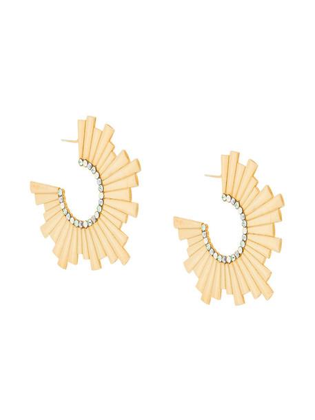 Charlotte Valkeniers earings women gold silver grey metallic jewels