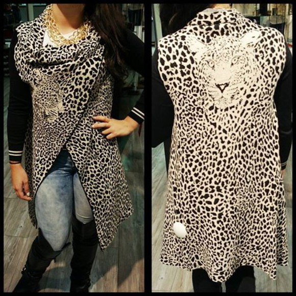 sweater tiger print jacket