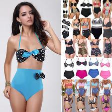 NEW Style Retro Push UP Polka Dots Bikini High Waist Swimwear Vintage Swimsuit | eBay