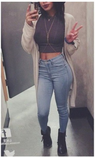 Jeans kylie jenner high waisted jeans jeans hiwaist  : jz1qyt l 610x610 jeans kylie highwaistedjeans jeans hiwaist highwaistedpants highwaistedskinnylightbluejeans croptops jewels cardigan shirt tshirt shoes from wheretoget.it size 372 x 610 jpeg 43kB