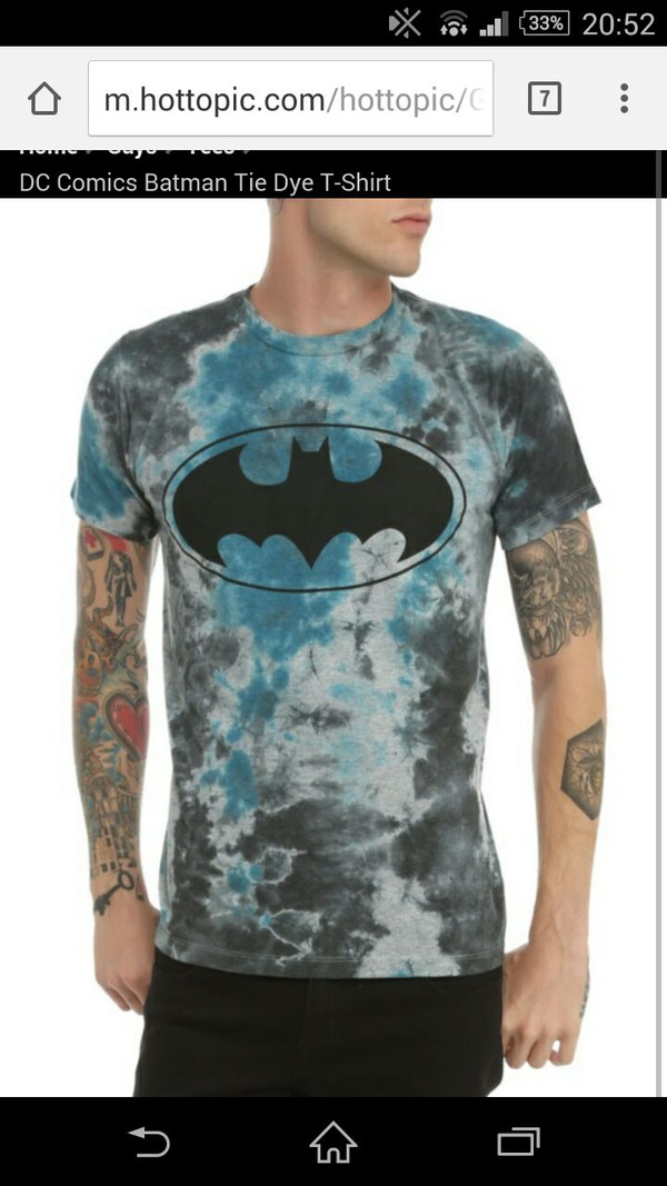 t-shirt batman tie dye