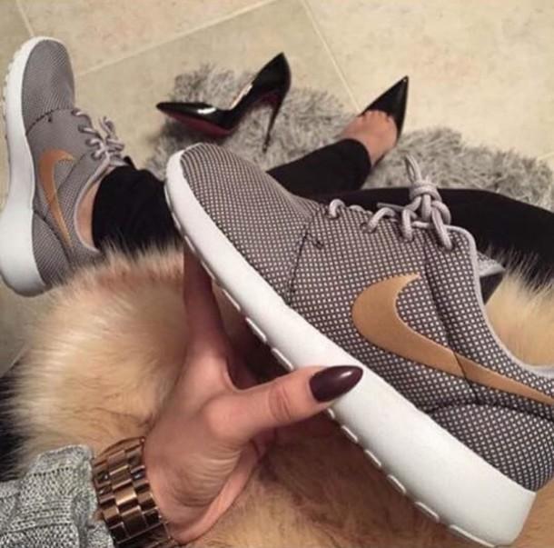 Cheap Buy Shoes: gold, nike roshe run, nike running shoes, nike, roshe runs