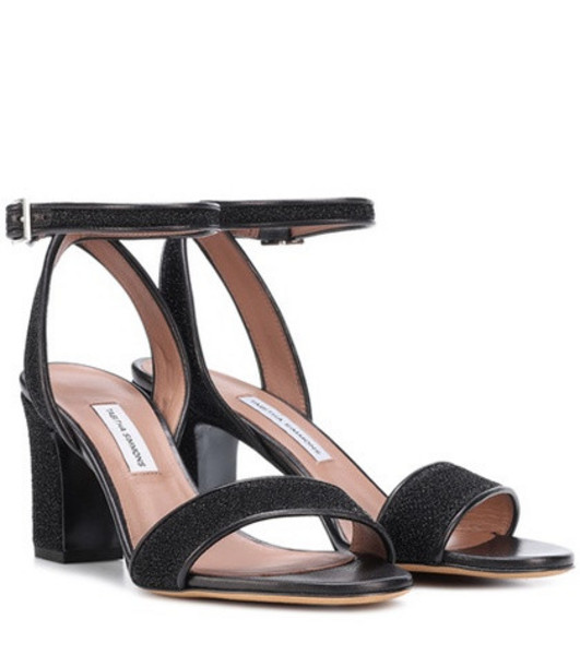 Tabitha Simmons Leticia metallic sandals in black